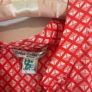 Dalia Tops - NWT. Dalia women orange and white blouse sz 3x